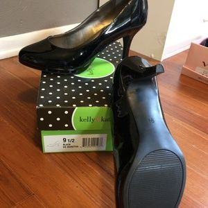 Kelly and Kate Black Patent Pumps